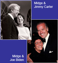 Midge and Jimmy Carter / Midge and Joe Biden